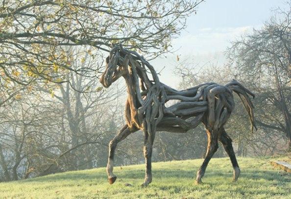 Heather Jansch driftwood horse