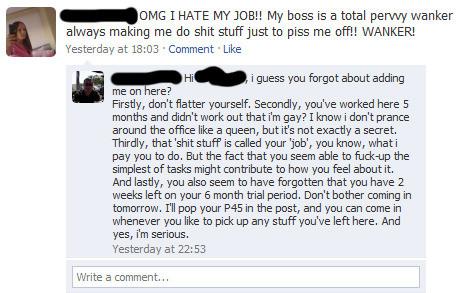 Bad Facebook Boss Episode