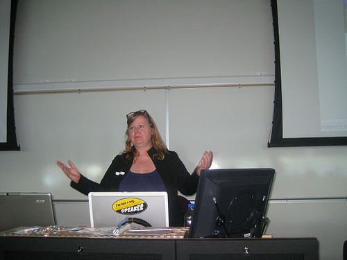 me lecturing at WordCamp Fraser Valley