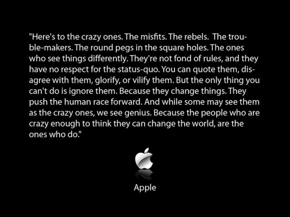 Think Different: this is what it looks like.